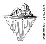 iceberg. hand drawn... | Shutterstock .eps vector #717675376