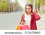 sms. closeup portrait funny... | Shutterstock . vector #717675892