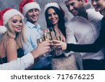 to xmas and newyear  close up... | Shutterstock . vector #717676225