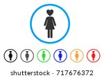 mistress rounded icon. style is ... | Shutterstock .eps vector #717676372