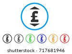 pound up down rounded icon.... | Shutterstock .eps vector #717681946