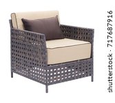 outdoor weave chair isolated on ...   Shutterstock . vector #717687916