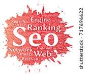 conceptual search results... | Shutterstock . vector #717696622