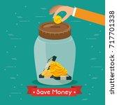 saving money concept  | Shutterstock .eps vector #717701338