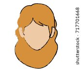 beautiful woman head avatar... | Shutterstock .eps vector #717701668