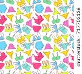 beautiful seamless pattern of... | Shutterstock .eps vector #717702136