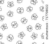 seamless pattern with... | Shutterstock . vector #717708022