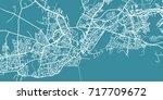 detailed vector map of galway ... | Shutterstock .eps vector #717709672
