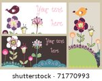 lovely nature card set | Shutterstock .eps vector #71770993