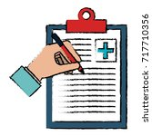 medical order with pencil... | Shutterstock .eps vector #717710356