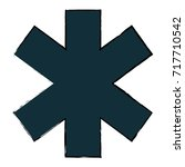 cross medical isolated icon | Shutterstock .eps vector #717710542