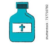 bottle medical isolated icon | Shutterstock .eps vector #717710782