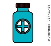 bottle medical isolated icon | Shutterstock .eps vector #717711496