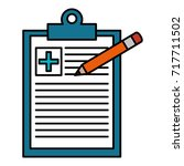 medical order with pencil... | Shutterstock .eps vector #717711502