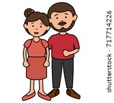 parent couple avatars characters | Shutterstock .eps vector #717714226