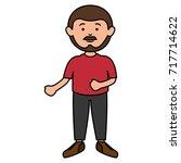 young man avatar character | Shutterstock .eps vector #717714622
