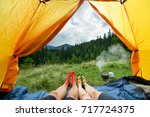legs of a couples of man and... | Shutterstock . vector #717724375