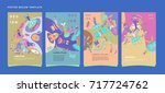 colorful abstract liquid and... | Shutterstock .eps vector #717724762