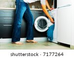 concept man putting his laundry ... | Shutterstock . vector #7177264