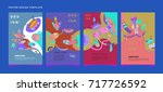 colorful abstract liquid and... | Shutterstock .eps vector #717726592