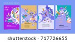 colorful abstract liquid and... | Shutterstock .eps vector #717726655