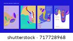 colorful abstract liquid and...   Shutterstock .eps vector #717728968