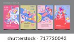abstract  colorful liquid and... | Shutterstock .eps vector #717730042
