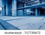 modern office buildings in... | Shutterstock . vector #717730672
