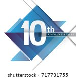 10th years anniversary logo ... | Shutterstock .eps vector #717731755