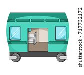 wagon  single icon in cartoon... | Shutterstock .eps vector #717732172