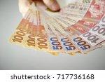 hong kong dollar banknotes  | Shutterstock . vector #717736168