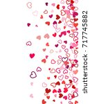 heart shape outline love... | Shutterstock .eps vector #717745882