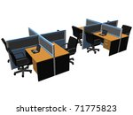 eight sets of computer office...   Shutterstock .eps vector #71775823