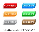 click here button set vector | Shutterstock .eps vector #717758512