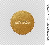premium quality golden label ... | Shutterstock .eps vector #717763966