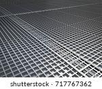 3d rendering metal floor... | Shutterstock . vector #717767362