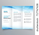 elegant blue business trifold... | Shutterstock .eps vector #717767638