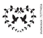 graphic bird in heart  vector | Shutterstock .eps vector #717774016