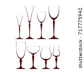 wine glasses 8 | Shutterstock .eps vector #717775942
