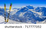 Skiing In Winter Season ...
