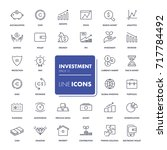 line icons set. investment pack.... | Shutterstock .eps vector #717784492