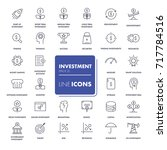 line icons set. investment pack.... | Shutterstock .eps vector #717784516
