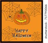 happy halloween design... | Shutterstock .eps vector #717793066