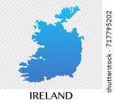 ireland map in europe continent ...   Shutterstock .eps vector #717795202