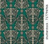 vintage style rich pattern ... | Shutterstock .eps vector #717796966