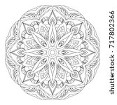mandala. black and white... | Shutterstock . vector #717802366