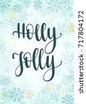 christmas frame  new year... | Shutterstock .eps vector #717804172