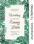 wedding event invitation card... | Shutterstock .eps vector #717809482