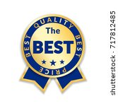 ribbon award best price label.... | Shutterstock .eps vector #717812485