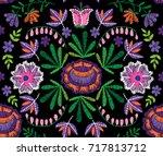 vector seamless decorative...   Shutterstock .eps vector #717813712
